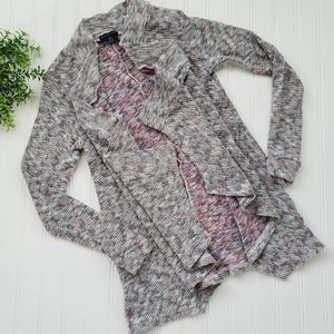 American Eagle Marled Open Front Cardigan Sweater